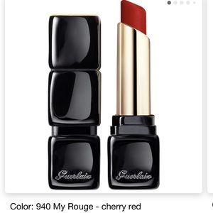 New Guerlain KissKiss Tender Matte Lipstick Cherry Red